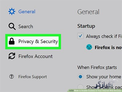 غیرفعال کردن کوکی فایرفاکس در نسخه دسکتاپ-۴