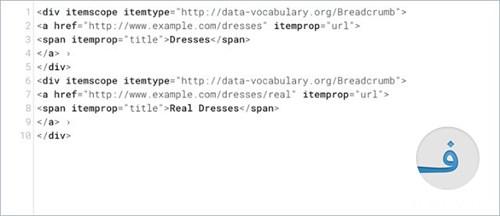 خطا Data-Vocabulary Schema Deprecated Breadcrumbs Error