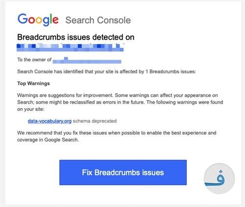 Breadcrumbs Error