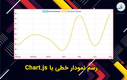 رسم نمودار خطی با Chart.js